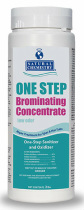 Natural Chemistry® ONE STEP Brominating Concentrate GRANULAR is a low odor one step spa sanitizer and oxidizer and is a great alternative to chlorine.